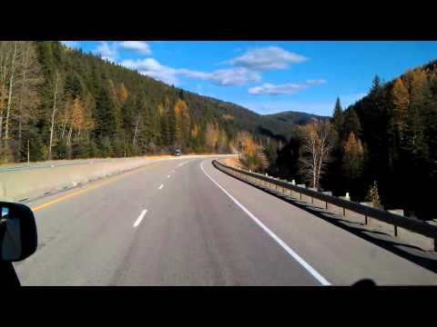 Interstate 90 Eastbound from Lookout Pass Mile Zero to Superior, Montana