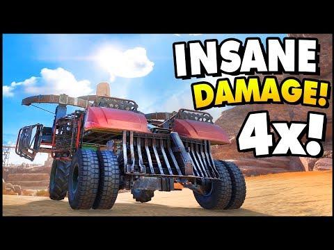 Crossout - QUAD POWER! Insane Damage! (Crossout Gameplay)