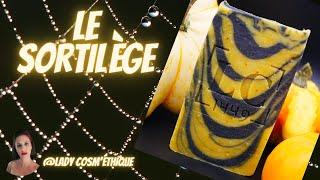 Savon saponifié à froid spécial halloween à la citrouille marbrage tiger stripes