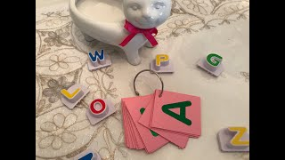 DIY Quick & Simple Alphabet Flashcards - How to Make Flashcards for Toddlers or Preschoolers