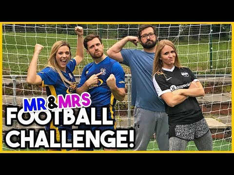 MR & MRS FOOTBALL CHALLENGE W/FOOBIE!