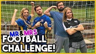 MR & MRS FOOTBALL CHALLENGE W/FOOBIE!