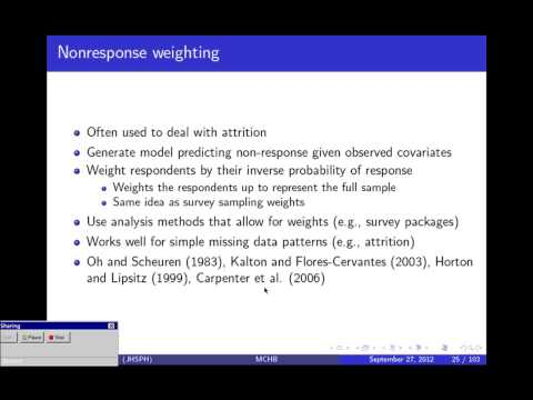 Recent Advances in missing Data Methods:  Imputation and Weighting - Elizabeth Stuart