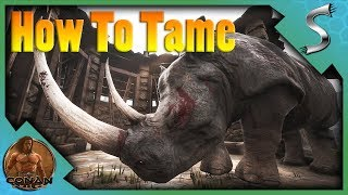 HOW TO TAME CREATURES IN CONAN! NEW PET SYSTEM & TAMING PENS - Conan Exiles [Full Release E29]