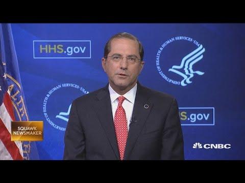 HHS Sec Azar on Trump's transparency drug pricing plan