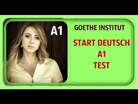 Goethe zertifikat a1 test  Language Test  2019-08-12