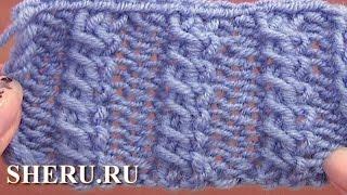 How To Knit  Cable Stitch Pattern Урок 11 Узор спицами коса из двух перекрещенных петель(http://sheru.ru Сегодня мы научимся вязать узор спицами коса из двух перекрещенных петель. Для узора набирают..., 2014-05-25T21:26:28.000Z)
