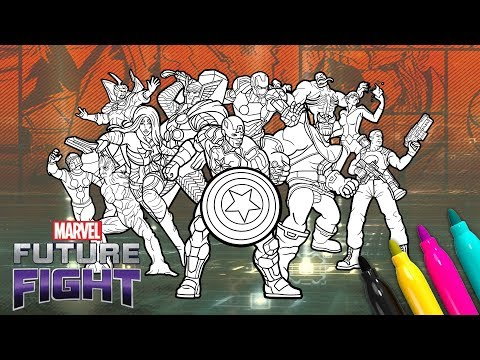 Marvel FUTURE FIGHT Coloring SET | Avengers Game Coloring Book