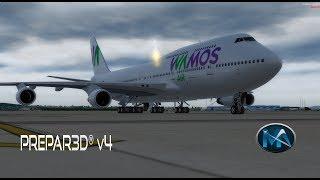 Video P3D V4 - VOO DE MADRID PARA PUNTA CANA (MAD-PUJ) BOEING 747 400 WAMOS AIR download MP3, 3GP, MP4, WEBM, AVI, FLV Juni 2018