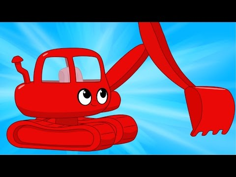 Morphle the Red Digger - Digger videos for children