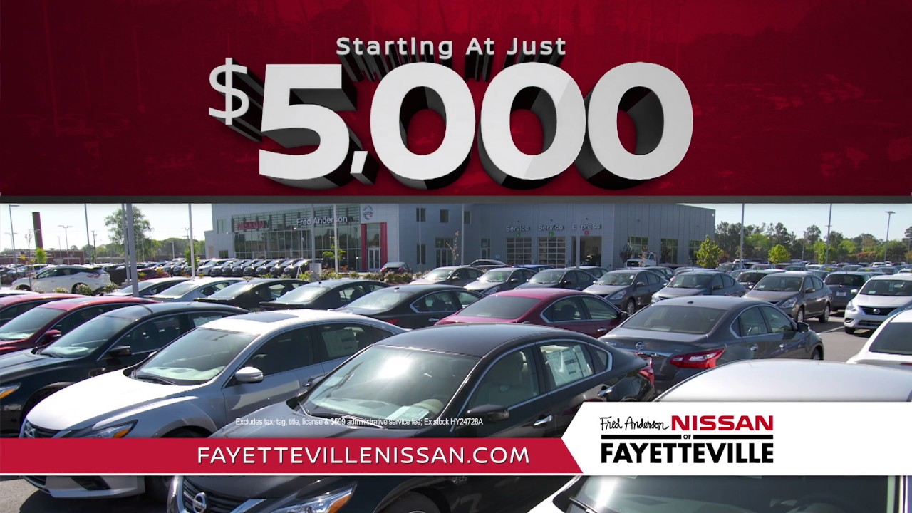 Fred Anderson Nissan of Fayetteville - Want More Used Specials - YouTube