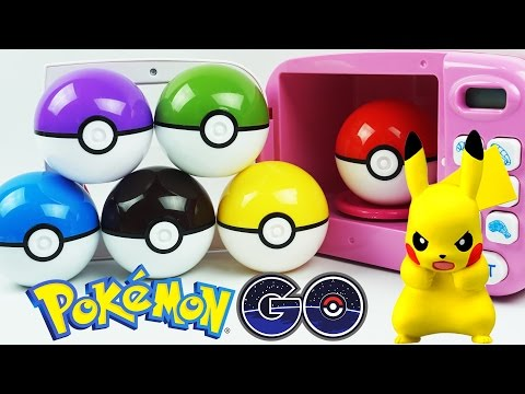 Pokemon GO! PokeBall Slime Clay Surprise Toys with Microwave Oven Playset Kids Video for Toddlers