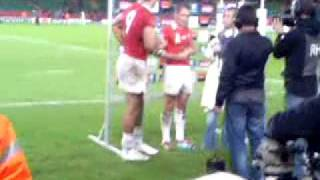 Shane Williams and Mike Phillips Interview-  Wales vs Japan