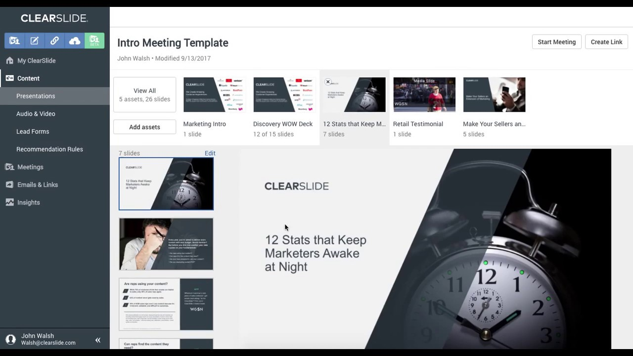 building an online sales presentation in clearslide youtube