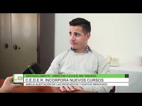CEDER incorpora nuevos cursos, Santiago Zanotti