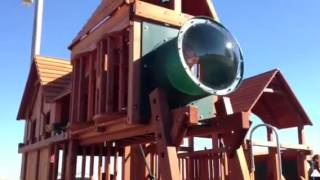 Backyard Playworld's Woodplay Mega Swing Set In Omaha, Ne!