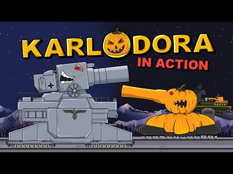 """Monster KARLODORA in action"" Cartoons about tanks"