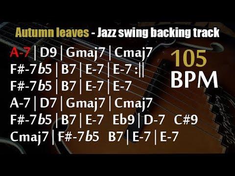 Autumn leaves - Jazz backing track - Youtube video