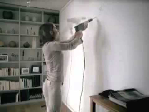 Woman Drilling in Wall FUNNY COMMERCIAL