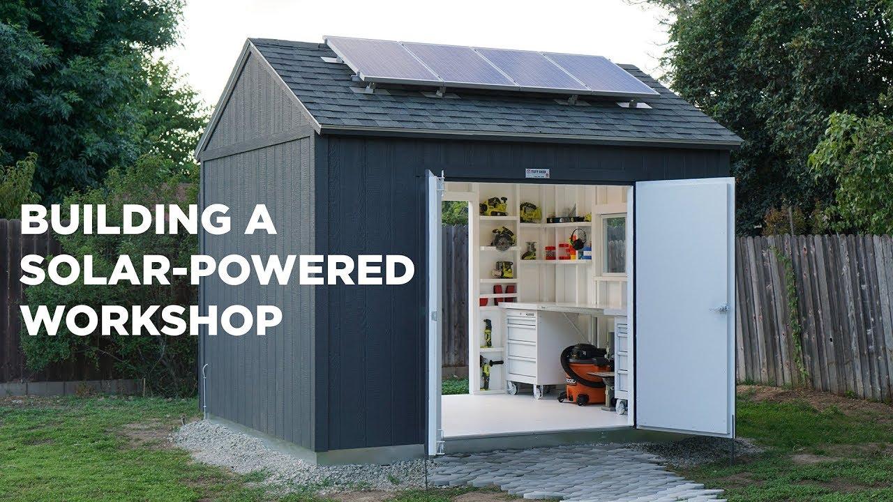 Wiring Diagram Off Grid Solar System Plain Venn Building A Powered Workshop Youtube