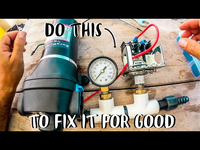 Water Pump Pressure Switch Troubleshooting | How To Fix A Water Pump