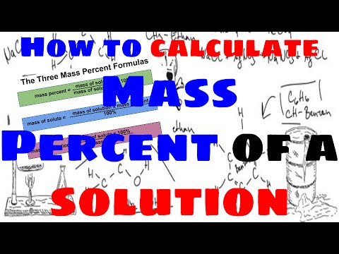 how to calculate mass percent of a solution youtube