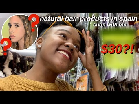 SHOPPING FOR NATURAL HAIR PRODUCTS IN SPAIN!!