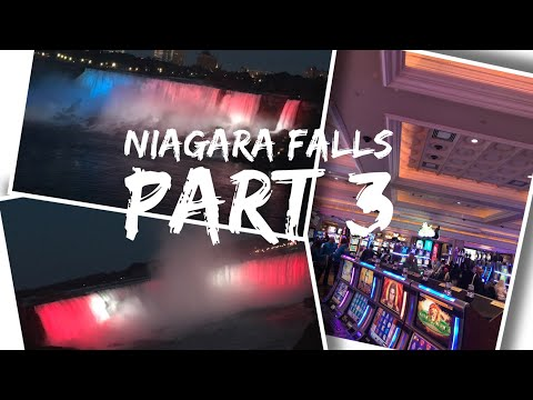 Canada Trip Vlog - August 2017 - Day 2 - Part 3 - Exploring Niagara Falls, Casino and Falls at night