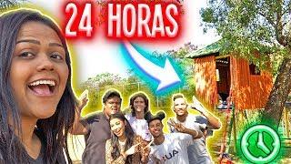 24 HORAS NA CASA DA ÁRVORE !!!