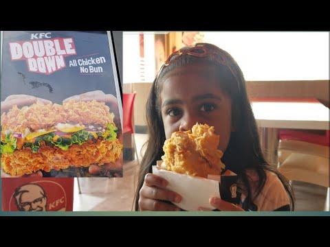 Kfc Double Down India Yummycheesytasty Zinger Burger Youtube