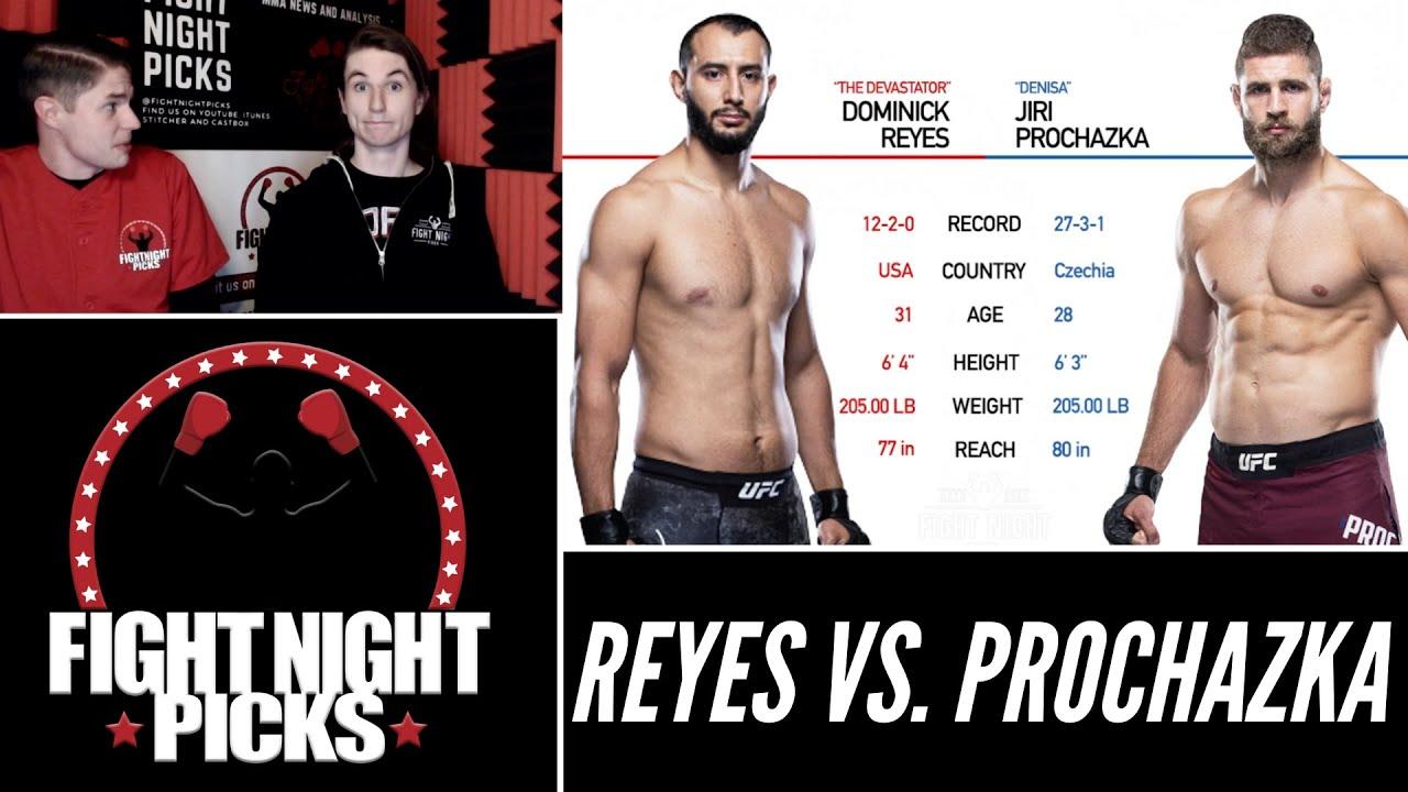 Dominick Reyes vs. Jiri Prochazka UFC Fight Night Odds, Pick ...