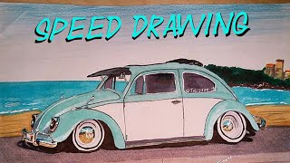 Volkswagen Beetle - speed drawing