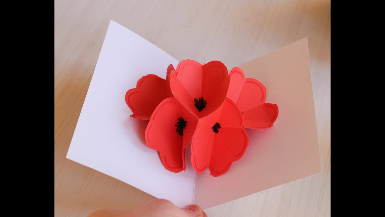 Magnifiek Moederdag bloemenkaart maken (lange versie) - YouTube @VG97