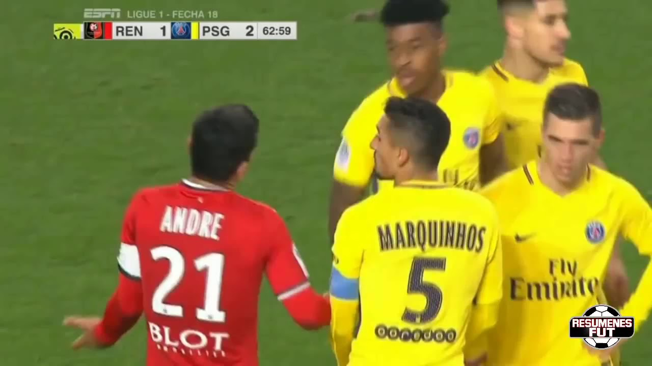 Download Stade Rennes vs PSG 1-4 Resumen Highlights Goles Goals 16/12/2017