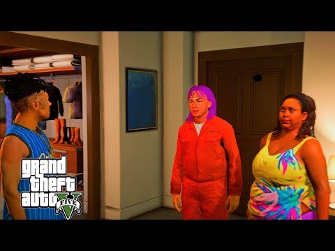 GTA 5 - BLUEFACE caught SIX9INE with his girl