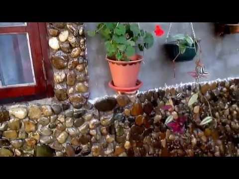 Облицовка дома речным камнем часть#1