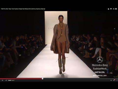 """""""KATYA ZOL"""" New York Fashion Week Fall Winter 2014 2015 by Fashion Channel"""