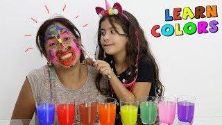 MÃE E FILHA APRENDENDO AS CORES! Baby e Mom Learn Colors Face Finger Family Rhymes Colours Song