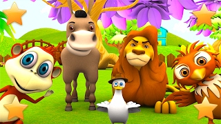Learn farm animals and animals sounds | Nursery Rhymes & Kids Songs by Little Treehouse S03E49