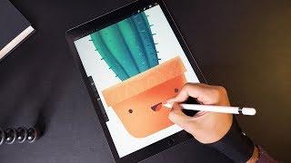 Cactus 🌵 Illustration with iPad Pro