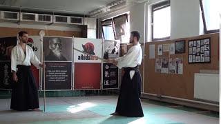 6  jo kata partner practise 1 jo -ken ( staff vs boken) [TUTORIAL] Aikido advanced weapon technique
