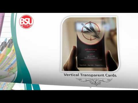 Online Transparent Cards Designing & Printing Solution