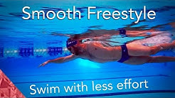 Swimming Freestyle smooth. Learn how to swim easy graceful front crawl.