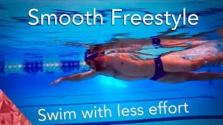 Swimming freestyle smooth. learn how to swim easy graceful front crawl..