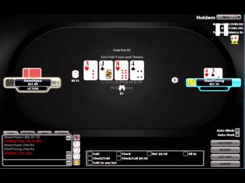 Reid Young aka shootaa playing heads up $50 no-limit hold'em (Part 2) free poker strategy