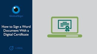 How to Sign a Word Document With a Digital Certificate