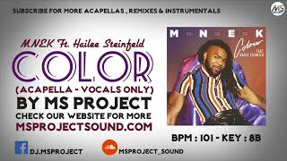 MNEK Ft. Hailee Steinfeld - Colour (Acapella - Vocals Only)