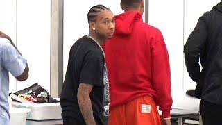 Cool Rap Star Tyga Glides Through Security Checkpoint