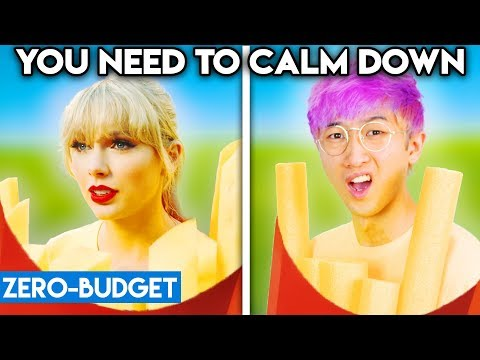 TAYLOR SWIFT WITH ZERO BUDGET You Need To Calm Down