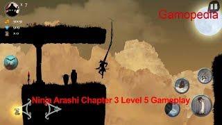 Ninja Arashi Chapter 3 Level 5 Gameplay Walkthrough-HD